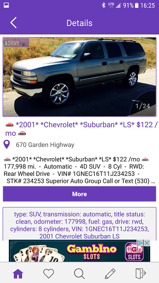 ad details craigslist android app