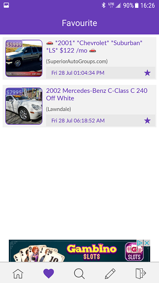 view favourite ads craigslist android app